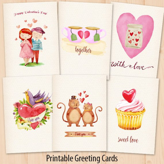 Printable Valentine cards valentine clipart Valentine Cards.