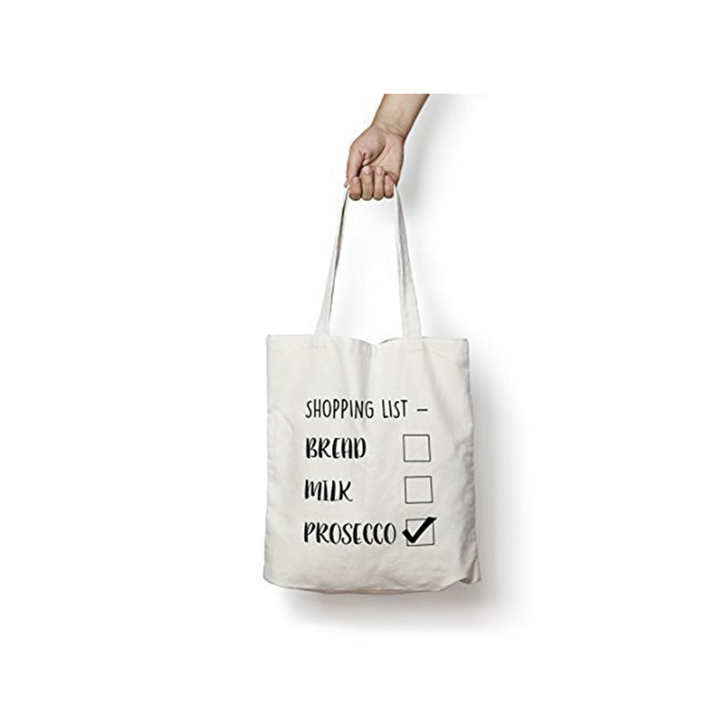 100% Pure Cotton Shopping Tote Bags Logo Printed.