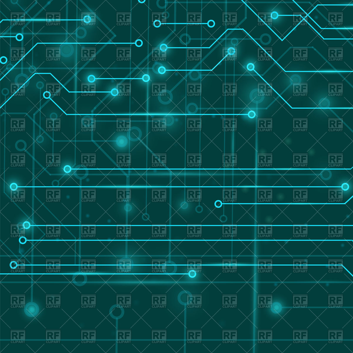 Circuit board pattern Vector Image #108807.