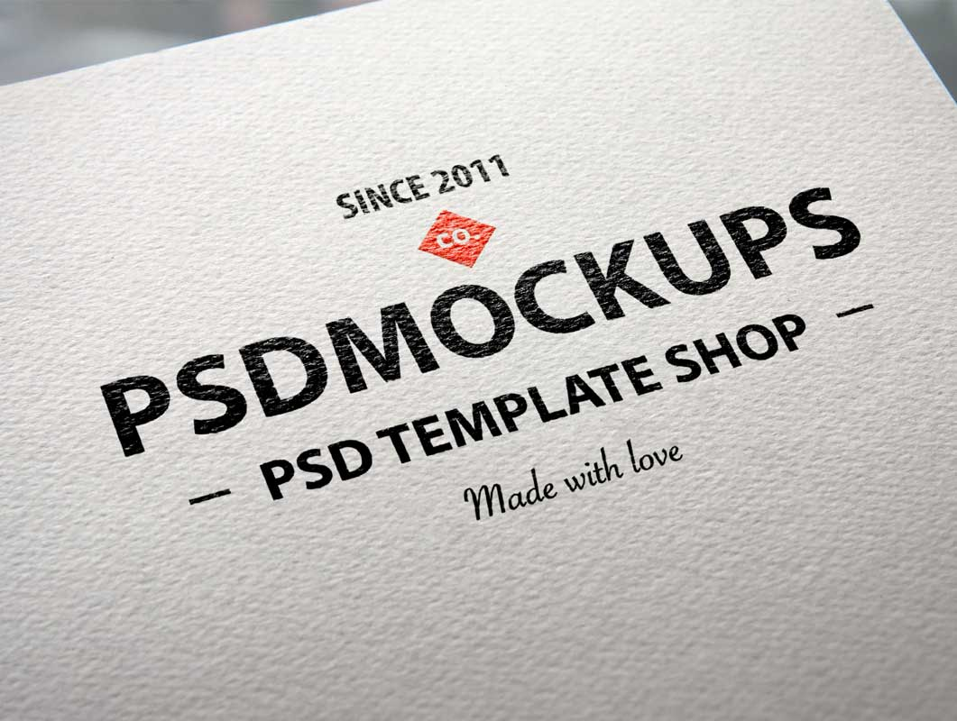 Logo Printed On Natural Corporate Letterhead Paper PSD.