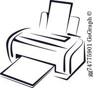 Printer Clip Art.