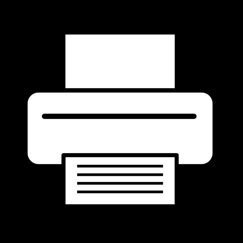 Free Clipart: Printer icon.