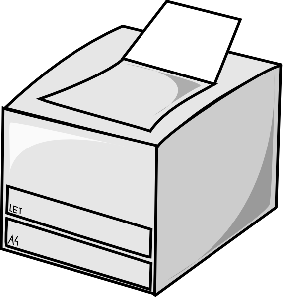 Free Printer Clipart Black And White, Download Free Clip Art.