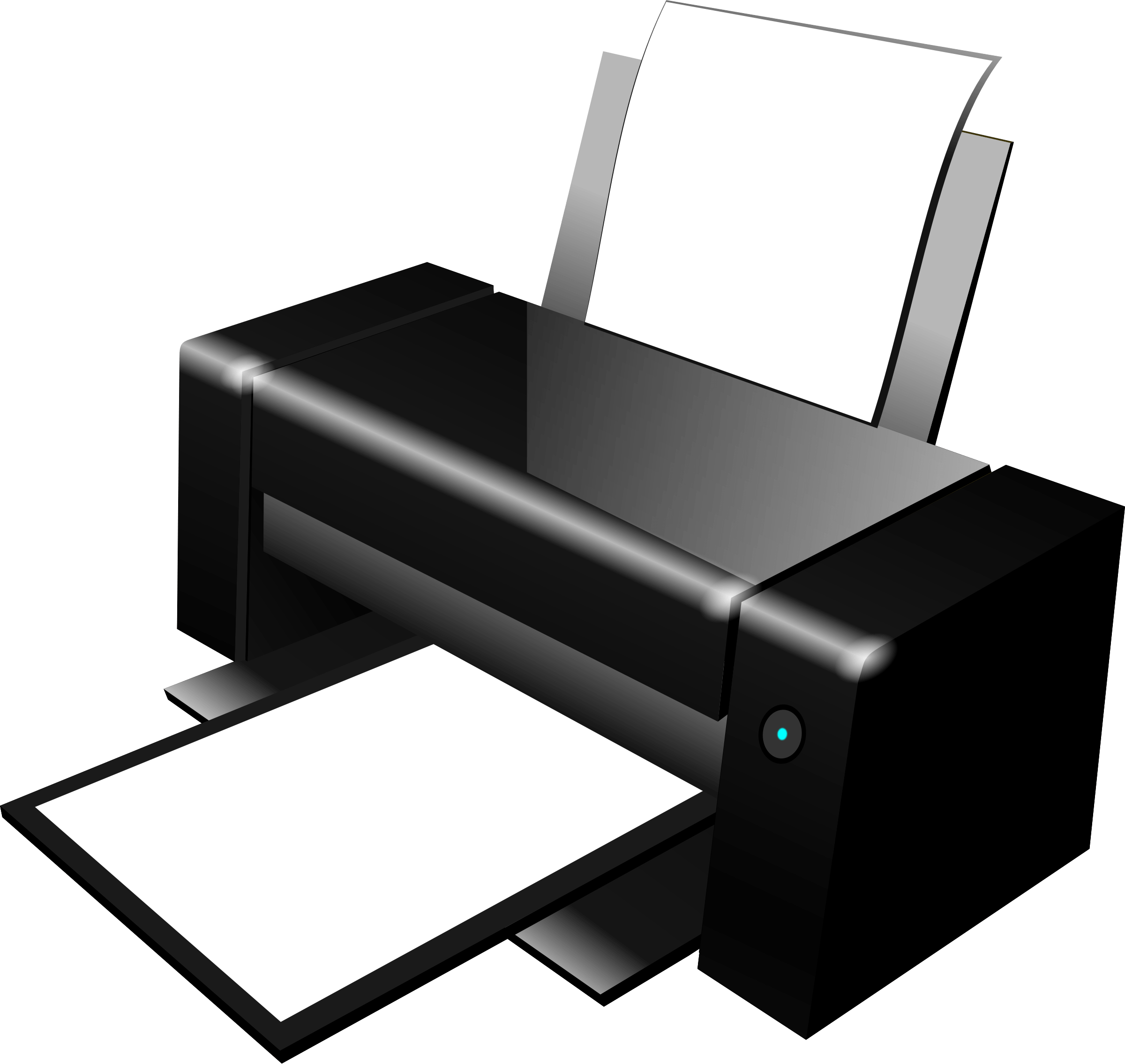 Black Clipart Printer transparent PNG.