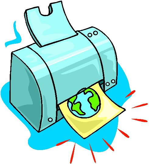 Computer Printer Clipart.