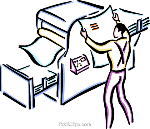 printing press Royalty Free Vector Clip Art illustration.