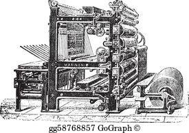 Printing Press Clip Art.