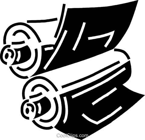 printing press Royalty Free Vector Clip Art illustration.