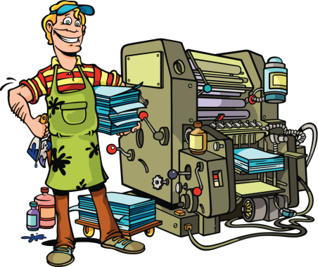 Printing press clipart 6 » Clipart Station.