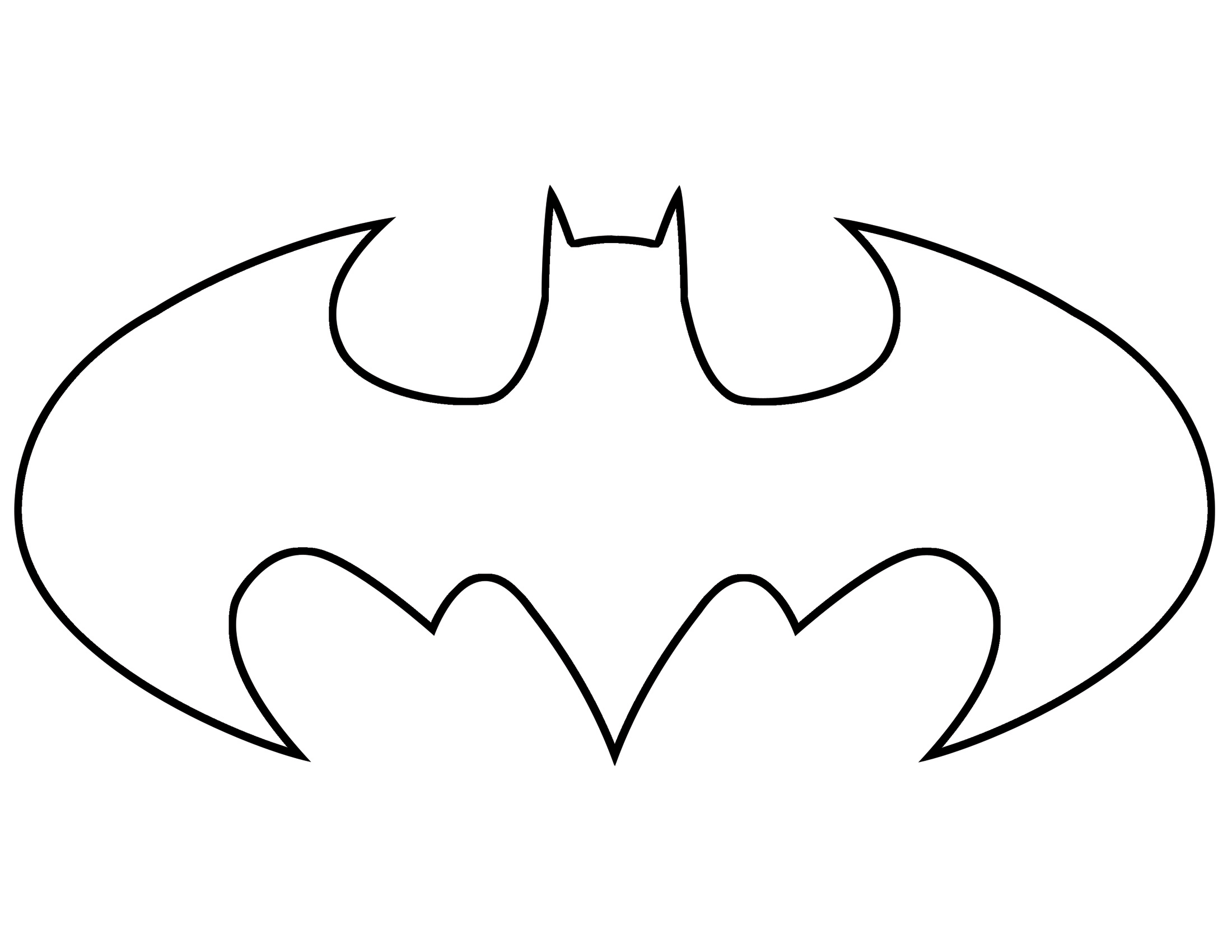 Printable Batman Logo.
