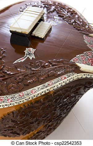Stock Images of Sitar, a string Indian Traditional instrument.