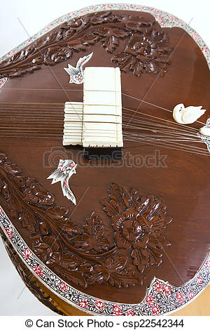 Stock Photo of Sitar, a string Indian Traditional instrument.