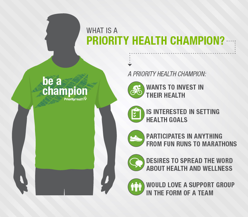 Be a Champion » Team Priority Health.