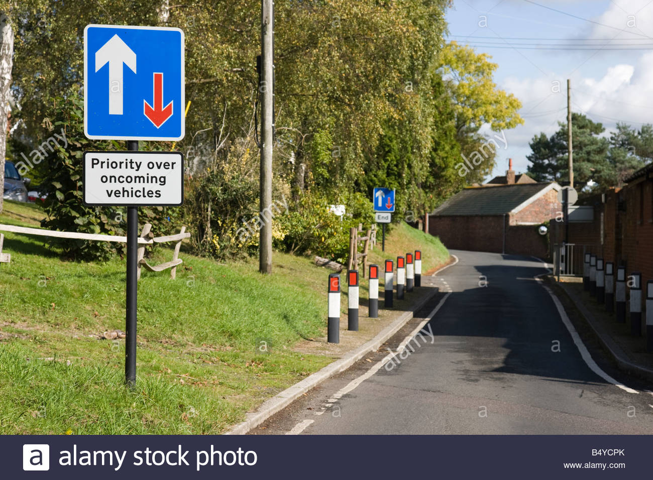 Priority Oncoming Vehicles Sign Stock Photos & Priority Oncoming.