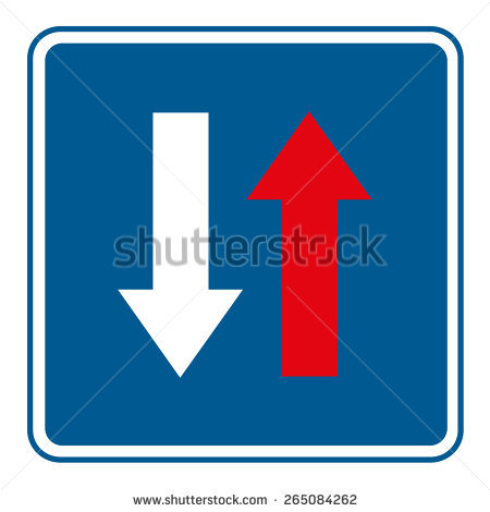 Priority Traffic Sign Priority Over Oncoming Stock Vector.