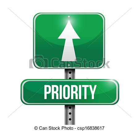 Vector Clip Art of priority road sign illustration design over a.