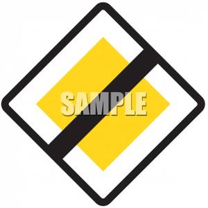 European_End_Priority_Road_Sign_Royalty_Free_Clipart_Picture_090627.