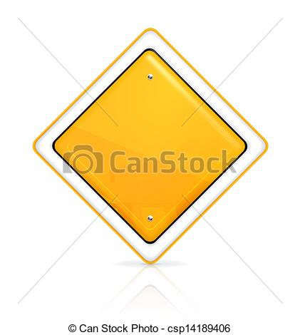 Vector Clipart of Priority road sign csp14189406.