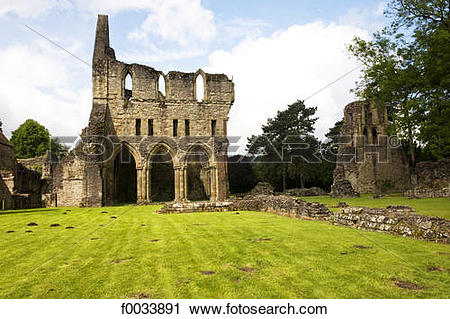 Stock Photography of England, Shropshire, Much Wenlock, priory.