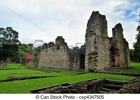 Stock Images of Medieval Priory.