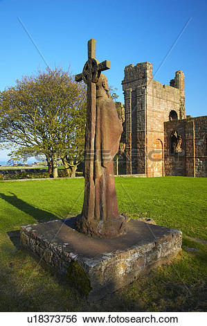 Stock Images of England, Northumberland, Lindisfarne Priory.