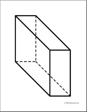 3d Rectangular Prism Clipart.