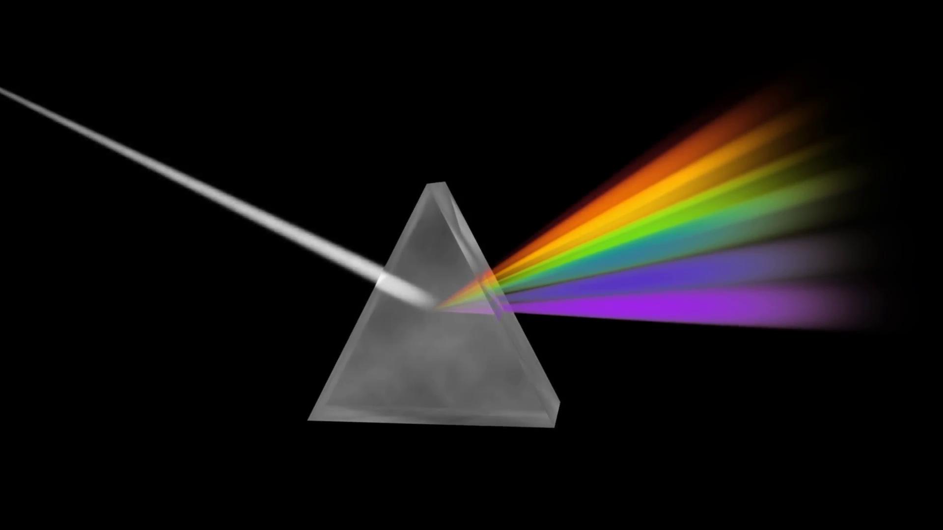 Prism Separating Light Spectrum Motion Background.
