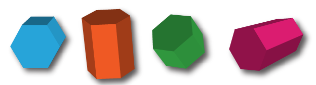 Hexagonal Prisms: Paper Models, Surface Area, Volume Formulas and Nets.