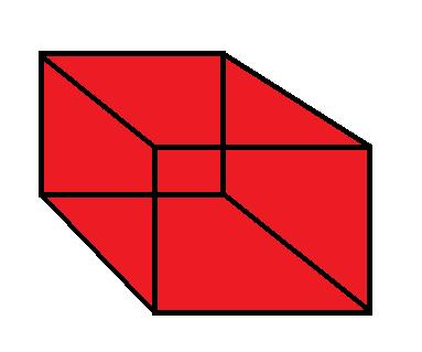Surface Areas of a Rectangular Prism Clip Art.