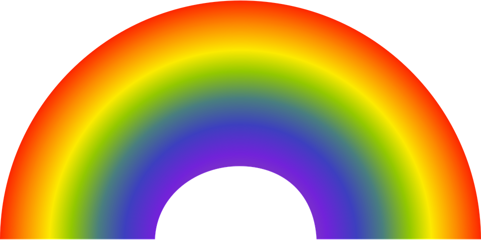 Free vector graphic: Prismatic Colors, Rainbow.