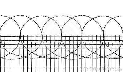 Seamless Security Fence Royalty Free Stock Photo.