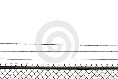 Prison Fence Royalty Free Stock Photos.