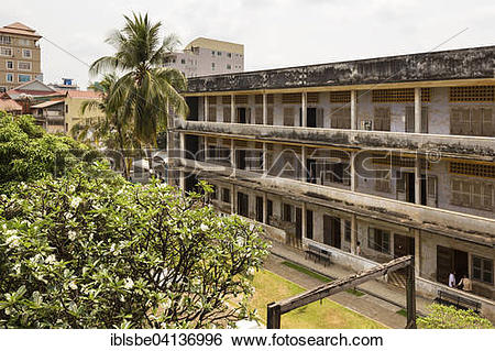 Stock Images of Tuol Sleng Genocide Museum, south wing, gallows.