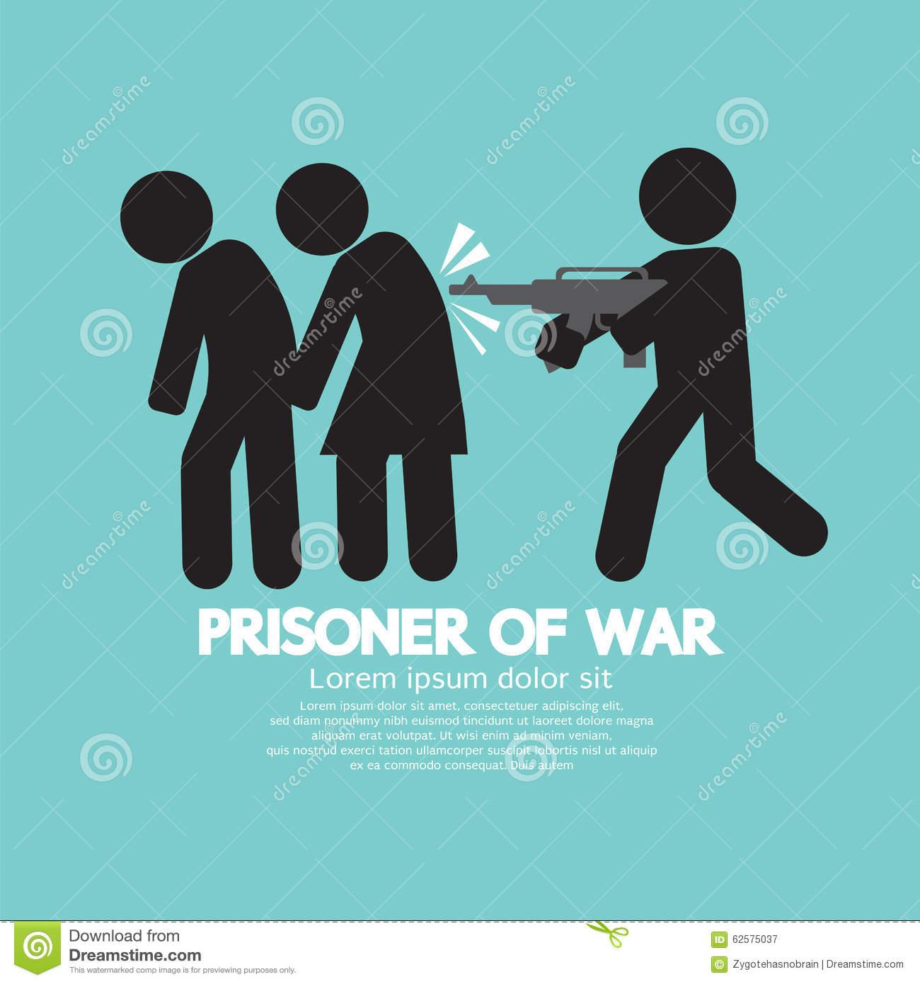Prisoner Of War Symbol. Stock Vector.