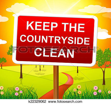 Clip Art of Keep Countryside Clean Means Pristine Clear And.