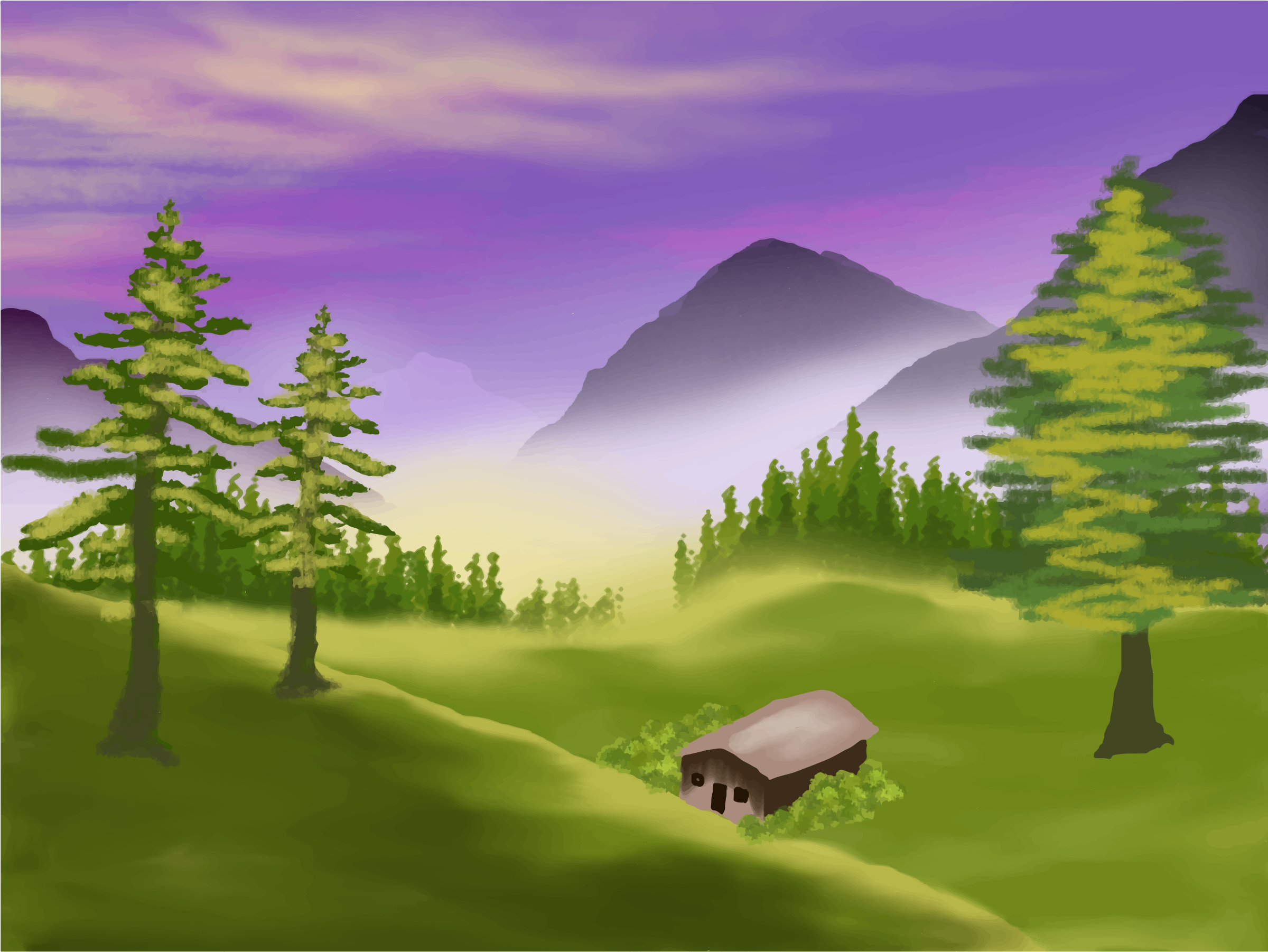 Valley clipart #15