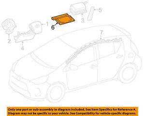 Toyota 12 16 Prius C Front Seat Air Bag Left 7390552010.