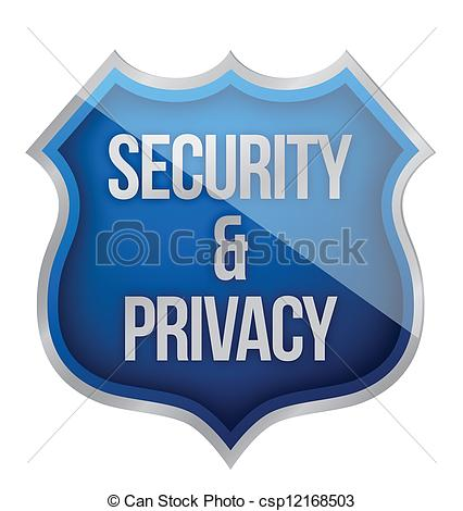 Vector Clipart of Security and Privacy Shield illustration design.
