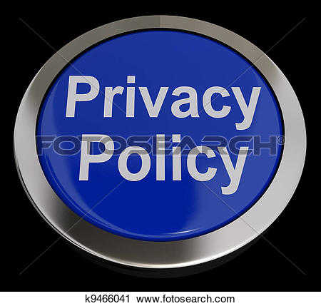 Clipart of Privacy Policy Button In Blue Showing The Company Data.