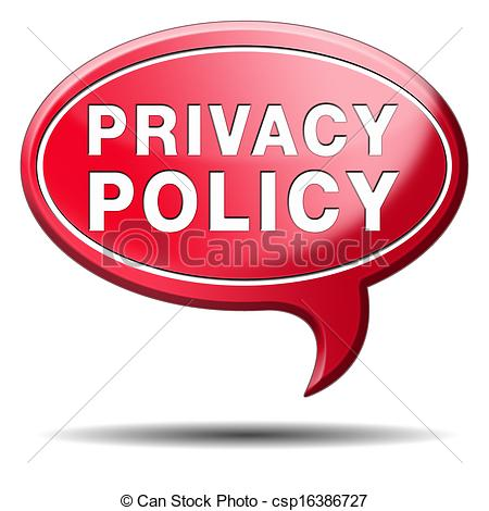 Clip Art of privacy policy.