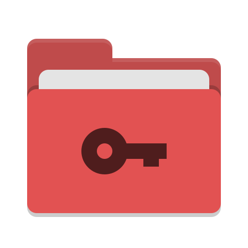 Folder red private Icon.