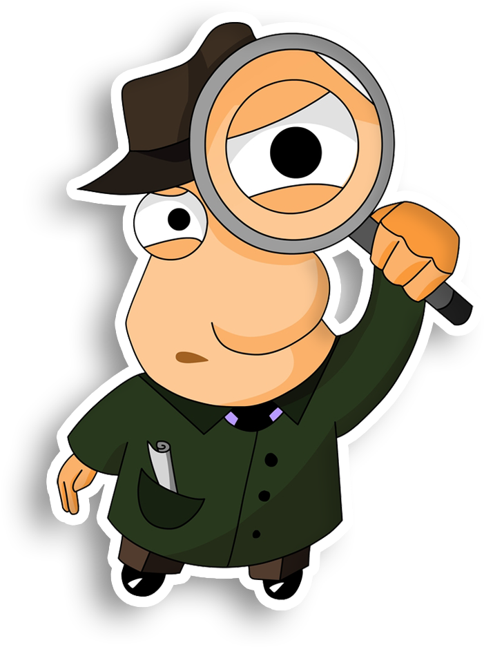 HD Detective Magnifying Glass Private Investigator Clip.