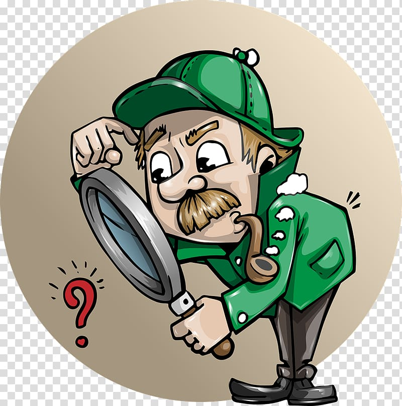 Detective Cartoon Private investigator , investigation.