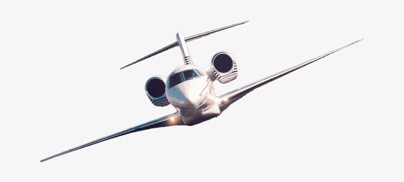 Flying Private Jet Png.