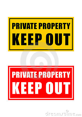 Private Property Sign Stock Photos.