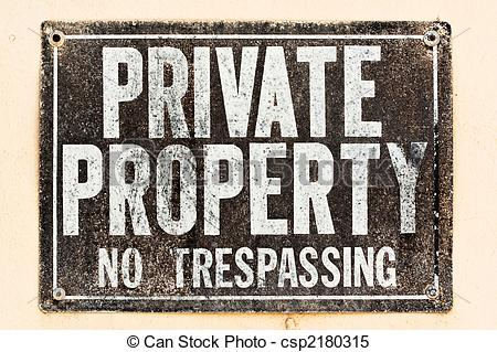 Private property clipart.
