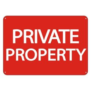 Private Property Clip Art.