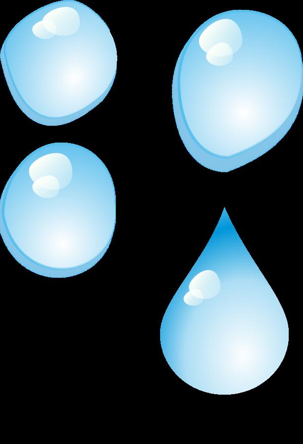 Set of water drops SVG Vector file, vector clip art svg file.