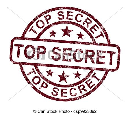 Clip Art of Top Secret Stamp Shows Classified Private.