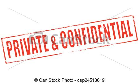 Vector Clip Art of Private and confidential.